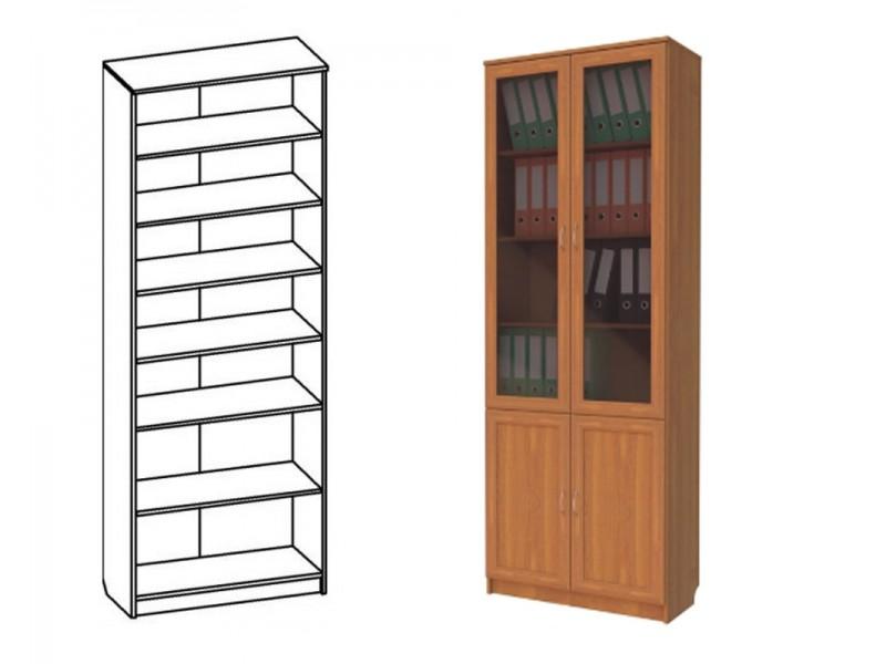 Шкаф книжный со стеклом (арт. 202) - производитель славмебел.