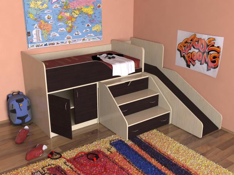 Кровать и стол для школьника своими руками 42