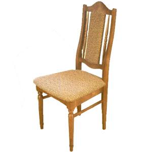 ...Стул из массива березы с мягким сиденьем и полумягкой спинкой.